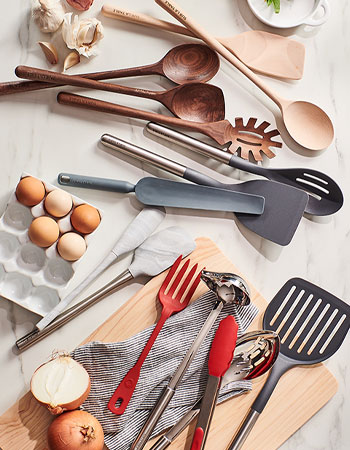 Sur La Table wooden and silicone kitchen tools