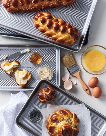 Sur La Table bakeware with fresh bread