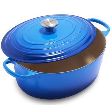 Le Creuset Signature Oval Dutch Oven, 8 qt. in Azure blue