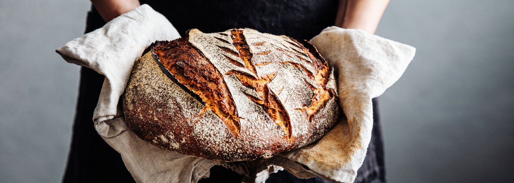 Rustic sourdough loaf of bread