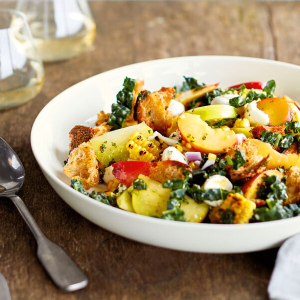 Big Summer Salad with Rustic Croutons