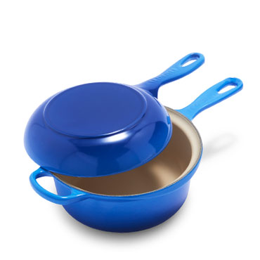 Le Creuset Multifunction Pan, 2.5 qt. in Azure blue