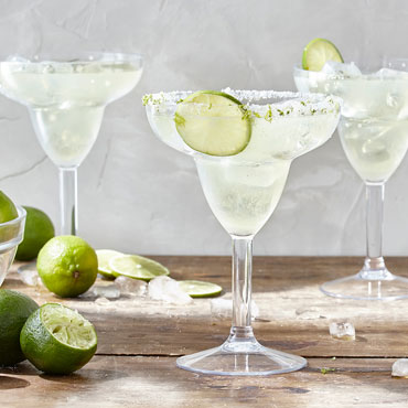 margaritas with lime and salt