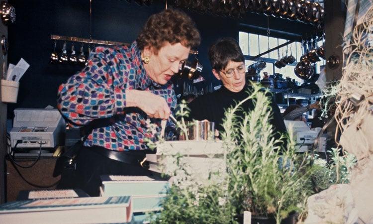 Julia Child and Shirley Collins