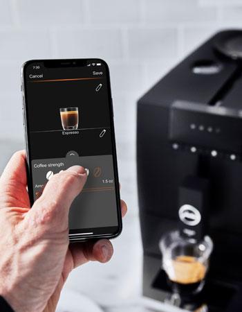 Jura digital touchscreen menu