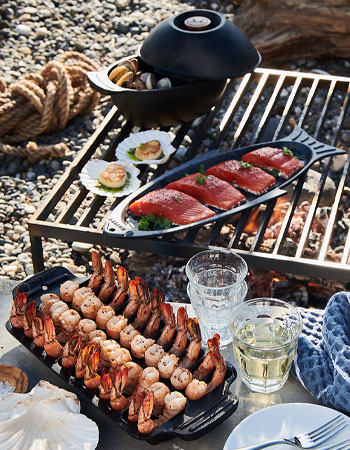 grilling cast iron cookware