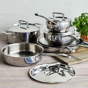 La Marque 84 10-Piece Stainless Steel Cookware Set