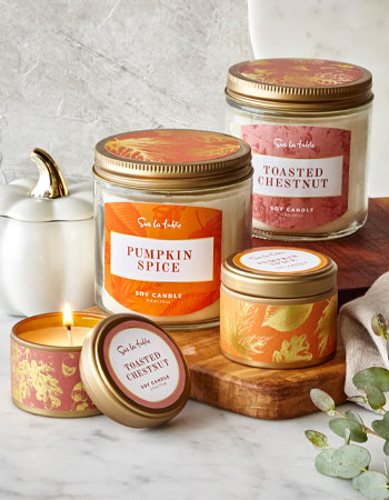 Pumpkin Spice and Toasted Chestnut Fall Candles