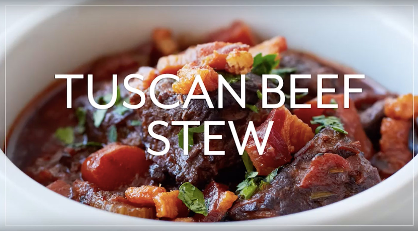 Hearty Tuscan Beef and Red Wine Stew