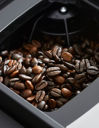 coffee beans in Jura machine
