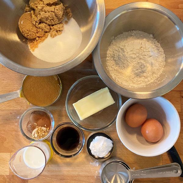 Spiced Pumpkin Loaf ingredients