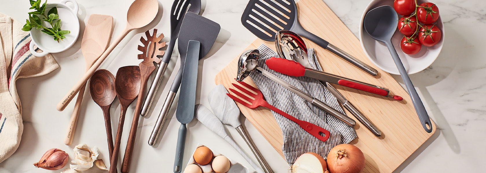 Sur La Table wooden, silicone and stainless steel tools