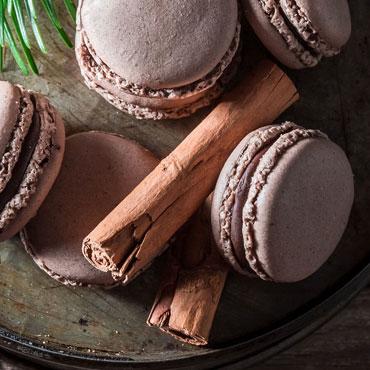 Chocolate Macarons with Espresso Buttercream
