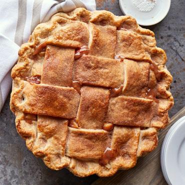 Salted Caramel Apple Pear Pie
