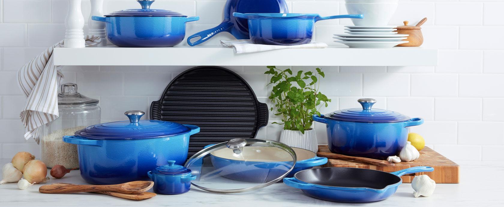 Le Creuset New & Exclusive Azure blue color