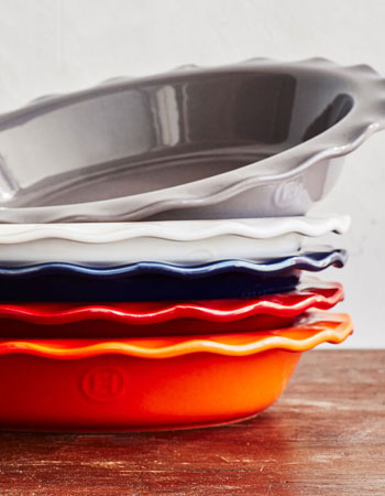Emile Henry colorful pie dishes for baking