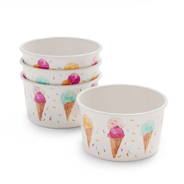 Ice Cream Bowls, Set of 4