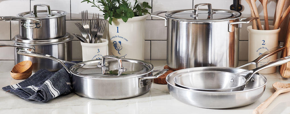 Demeyere Essential5 stainless steel cookware set