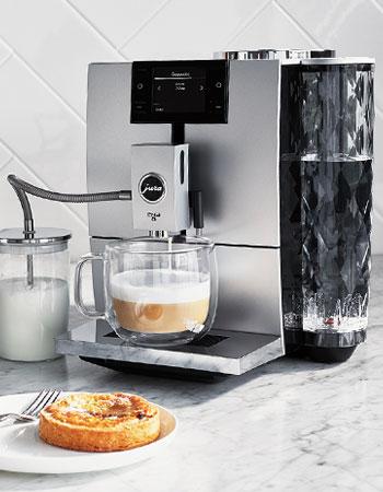 Jura coffee maker and latte