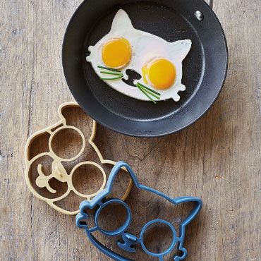 Gifts for kids, fried egg molds in animal shapes