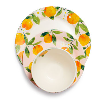 Citrus 12-Piece Dinnerware Set
