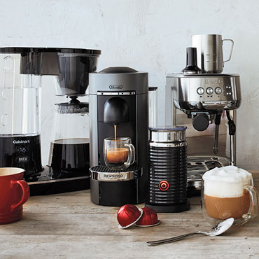 FOR THE COFFEE LOVER, coffee and espresso machines