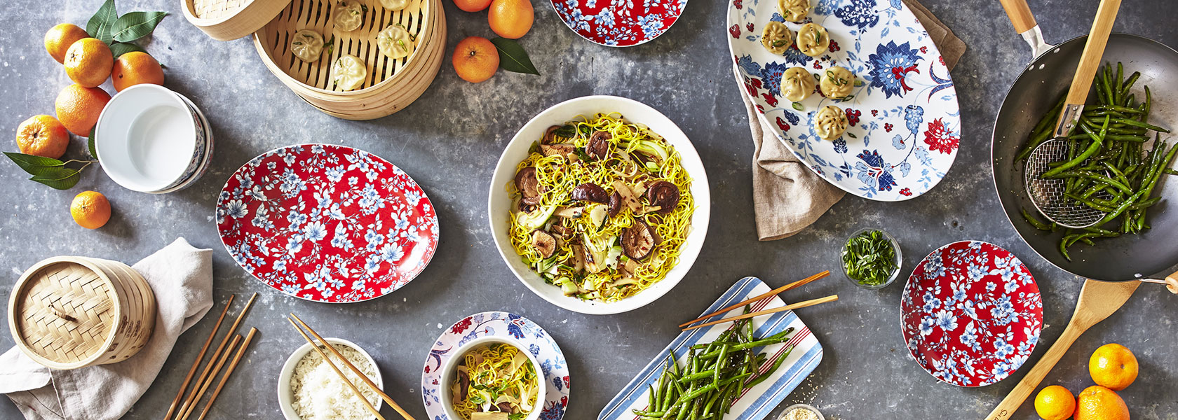 Lunar New Year dinnerware and platters