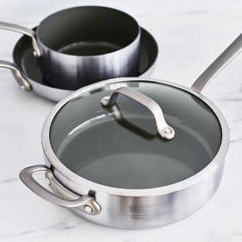 Greenpan skillet with glass lid