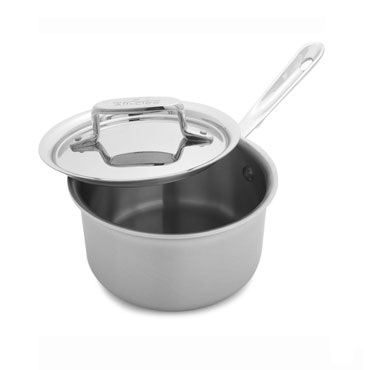 All-Clad d5 Brushed Stainless Steel Saucepan 1.5 qt.