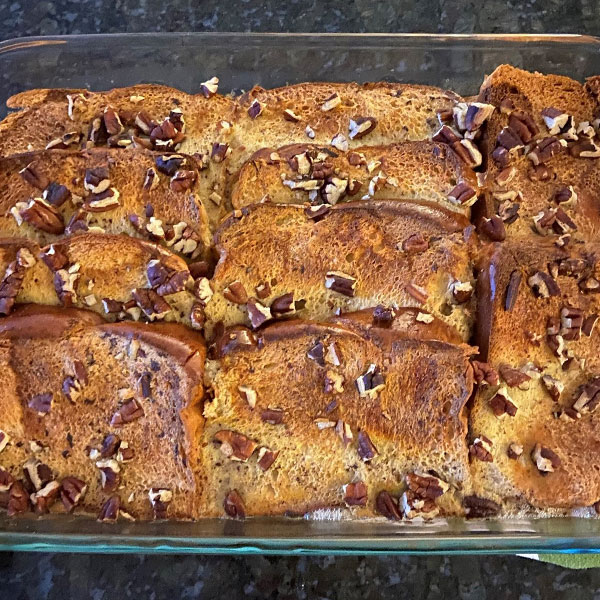 Brioche French Toast Casserole with Pecans