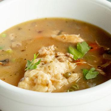 Hearty Chicken & Dumpling Soup