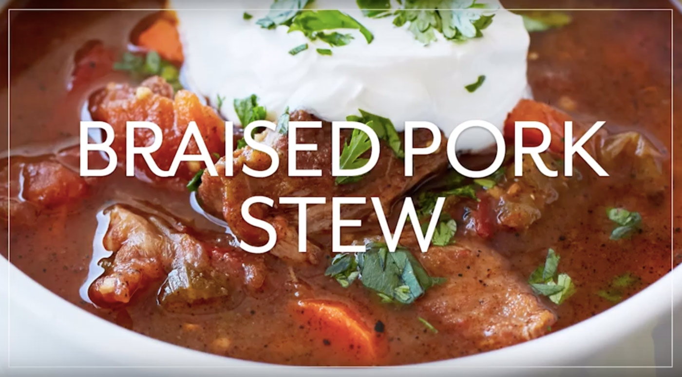 Braised Pork Stew with Ancho Chili Lime
