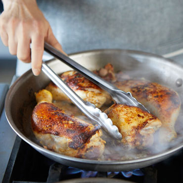 Roasted Chicken with Tarragon Cream Sauce