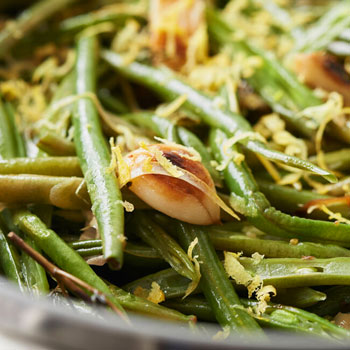 GREEN BEANS WITH LEMON & THYME