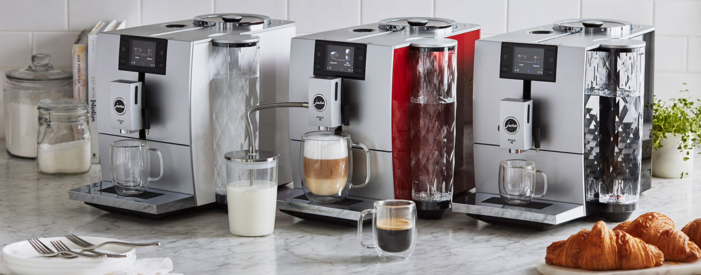 three jura ena 8 coffee machines