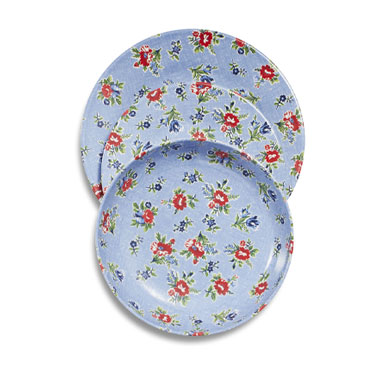 Summerhouse 12-Piece Blue Floral Dinnerware Set