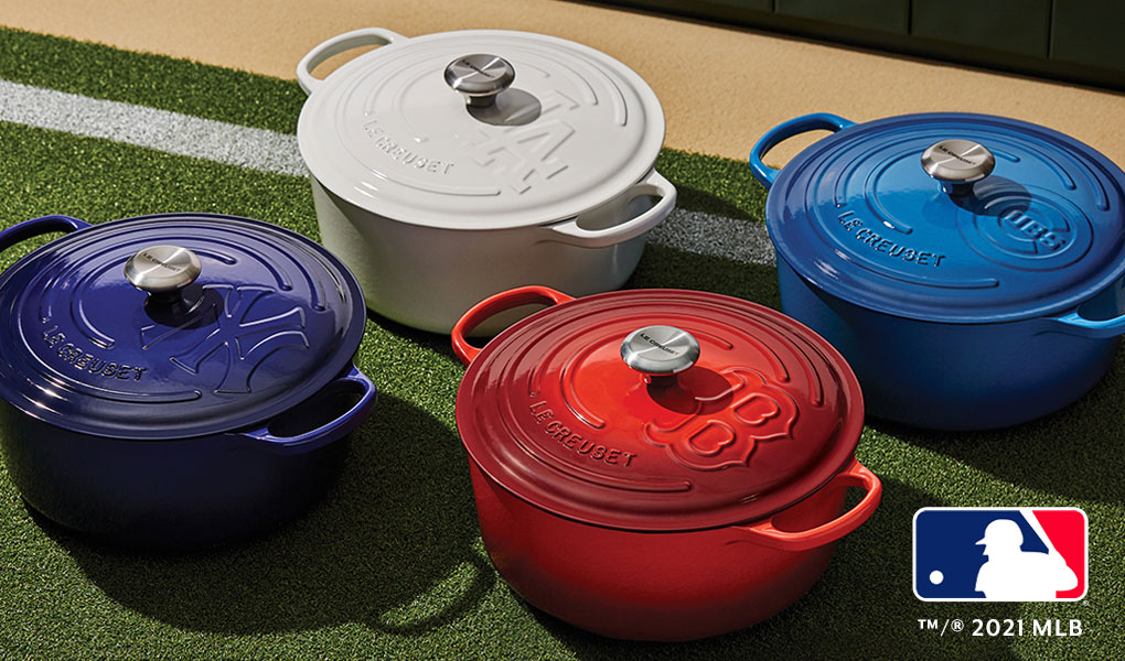 Le Creuset limited edition MLB cocottes