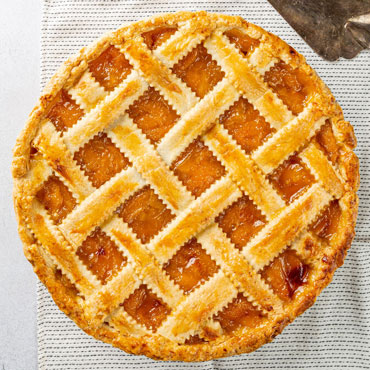 Dough 101: Decorative Lattice-Topped Peach Pie