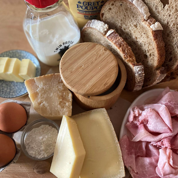 ingredients for Croque Madame