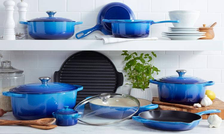 Le Creuset Azure cookware