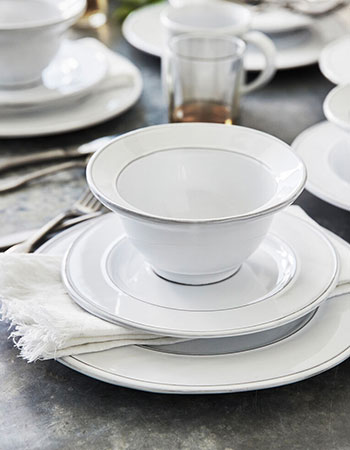white dinnerware place setting