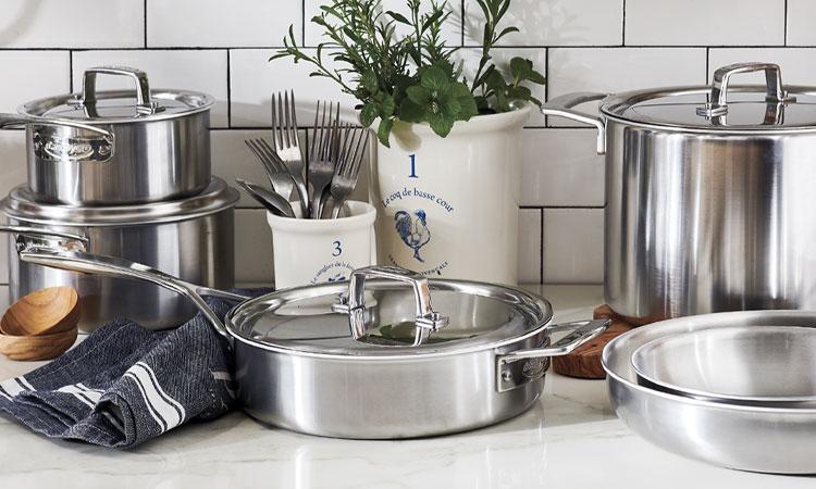 Demeyere Stainless Steel Cookware.