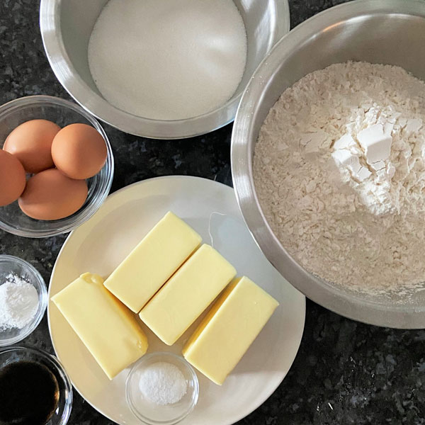 ingredients for Sugar Cookie Dough