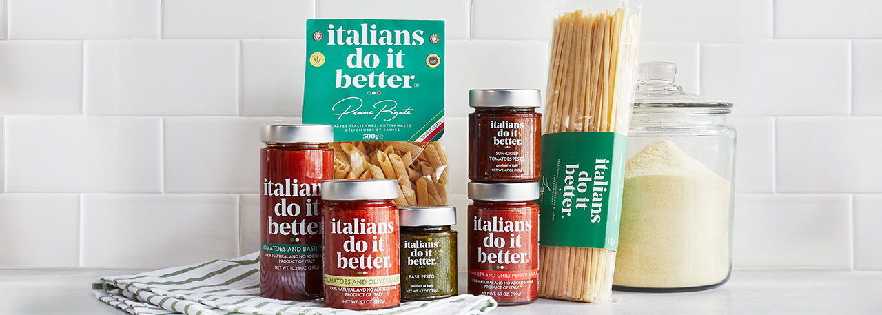 Italians Do It Better brand pasta and sauces
