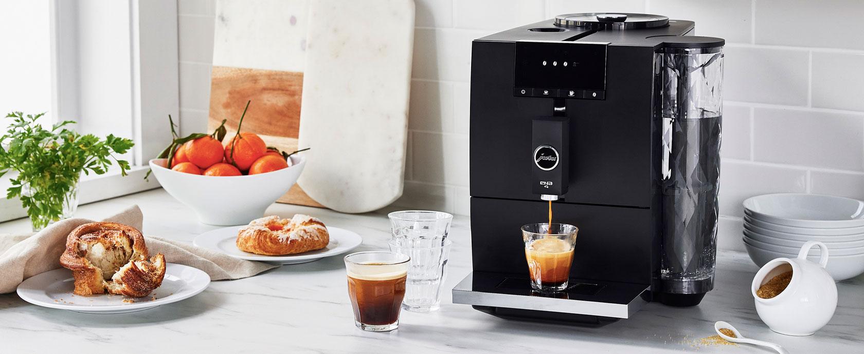 Jura Ena 4 Coffee and espresso machine exclusively at Sur La Table