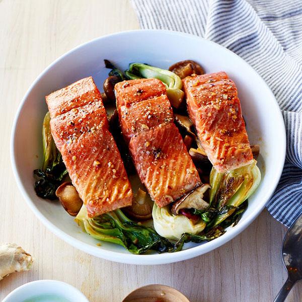 Ginger-Soy Salmon Sheet Pan Dinner