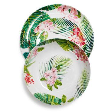 Cabana melamine dinnerware set