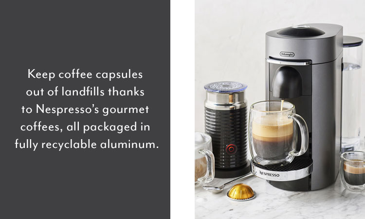 Nespresso De'Longhi coffee maker with milk frother