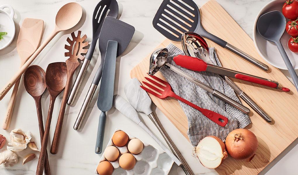 Sur La Table wooden, silicone & nylon kitchen tools