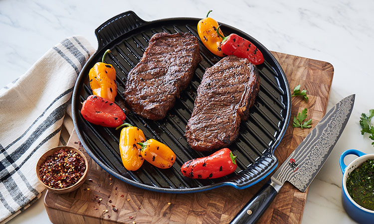 Le Creuset Bistro Grill in Azure